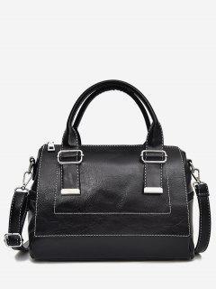 Color Block Going Out Handbag - Black