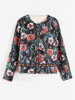 Chaqueta Floral Cuello Redondo - Multicolor Xl