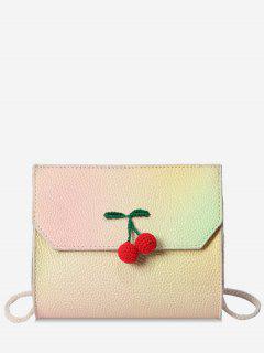 Cherry Embellished Mini Crossbody Bag - Yellow