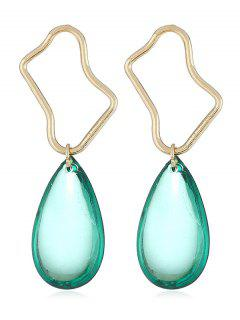 Irregular Geometric And Water Drop Shape Dangle Earrings - Light Aquamarine