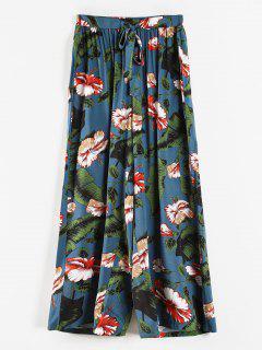 Floral Palazzo Plus Size Wide Leg Pants - Blue Ivy 3x