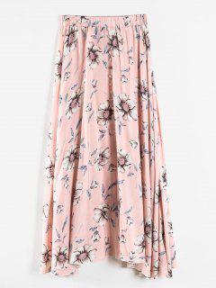 Plus Size Langen Floralen Rock - Rosa 2x