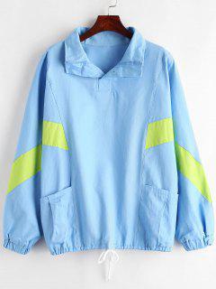 Suéter De Rayas De Sarga De Gran Tamaño - Cielo Azul Oscuro