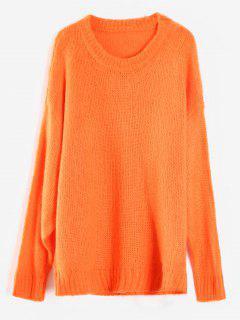 Übergroßer Pullover - Mango Orange