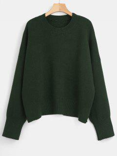 Boxy Oversized Sweater - Deep Green