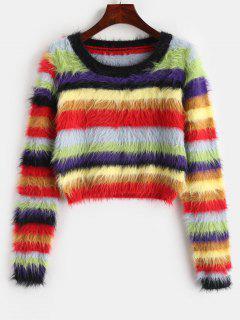 Pull Coloré En Mohair - Multi