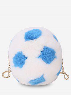 Polka Dot Print Chain Crossbody Bag - Blue Hosta