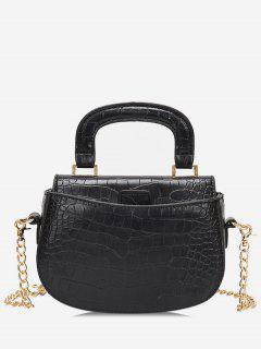 Mini Top Handle Chain Crossbody Bag - Black