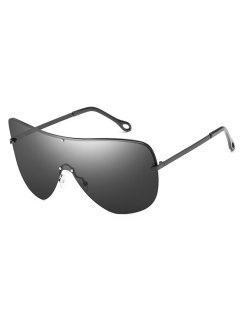 Anti Fatigue Rivets Shield Sunglasses - Black