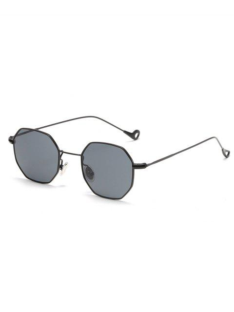 shops Irregular Metal Frame Sun Shades Sunglasses - CARBON GRAY  Mobile