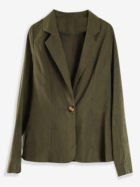 ladies Light One Button Blazer - ARMY GREEN L Mobile