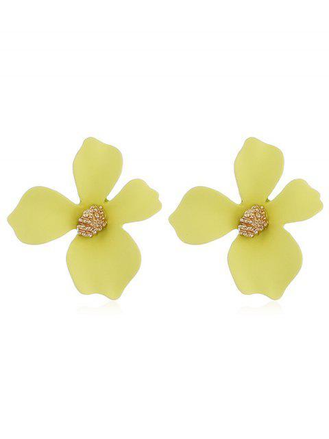 Boucles d'Oreilles Forme Florale Design - Jaune  Mobile
