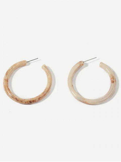 affordable Simple Marble Print Cuff Earrings - WARM WHITE  Mobile