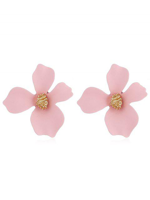 ladies Floral Shape Design Stud Earrings - PINK  Mobile