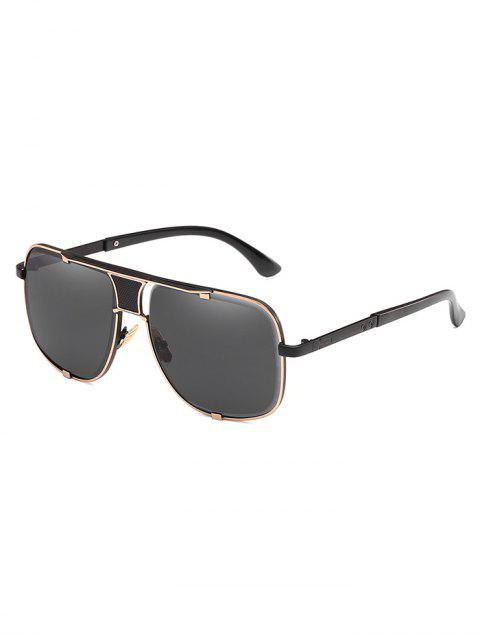 Gafas de sol con montura cuadrada antifatiga de metal - Negro  Mobile