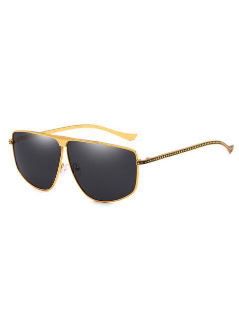 Einzigartige Metallrahmen Pilot Sonnenbrille - Goldgelb  Mobile