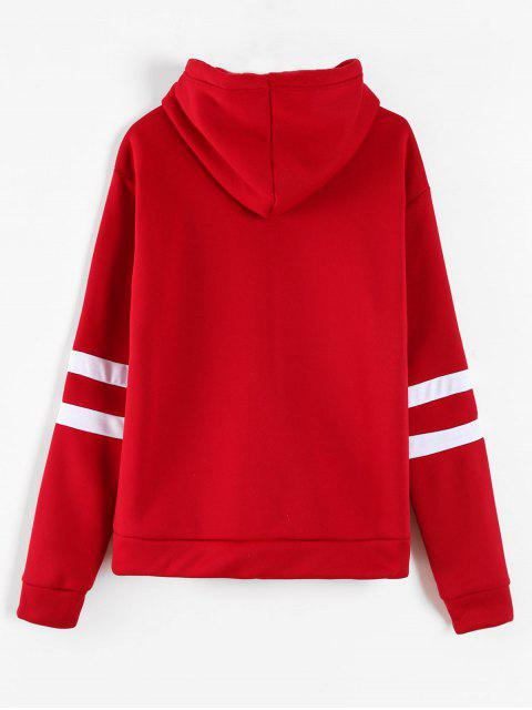 new Graphic Pouch Pocket Fleece Hoodie - RED S Mobile