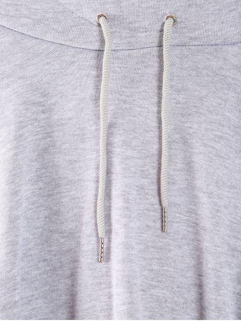 outfit Cropped Oversized Terry Hoodie - LIGHT GRAY XL Mobile