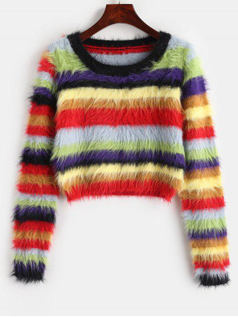 latest Colorful Mohair Sweater - MULTI ONE SIZE Mobile