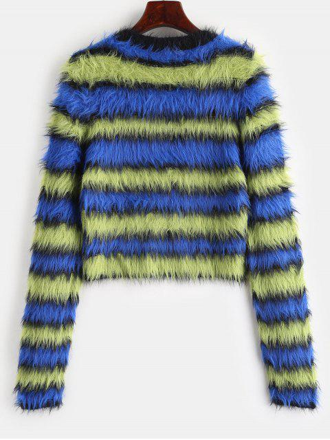buy Color Block Mohair Sweater - MULTI ONE SIZE Mobile