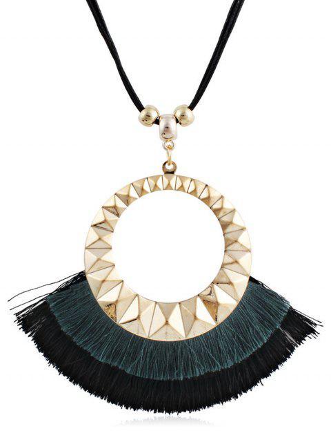 Pompon rond design collier de chandail décoratif - Vert Forêt Noire  Mobile
