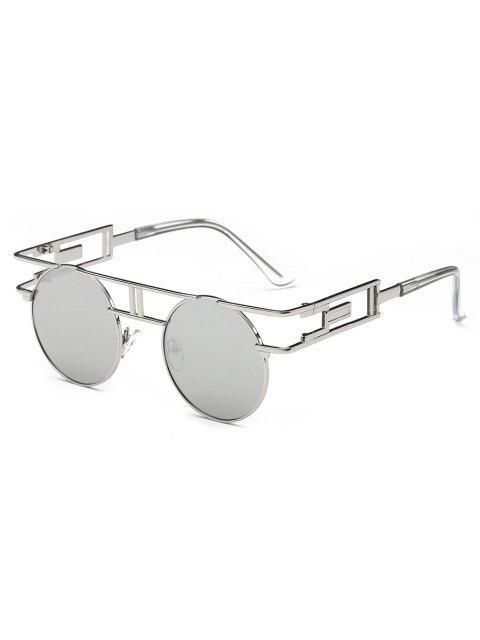 best Anti Fatigue Irregular Metal Frame Novelty Sunglasses - PLATINUM  Mobile