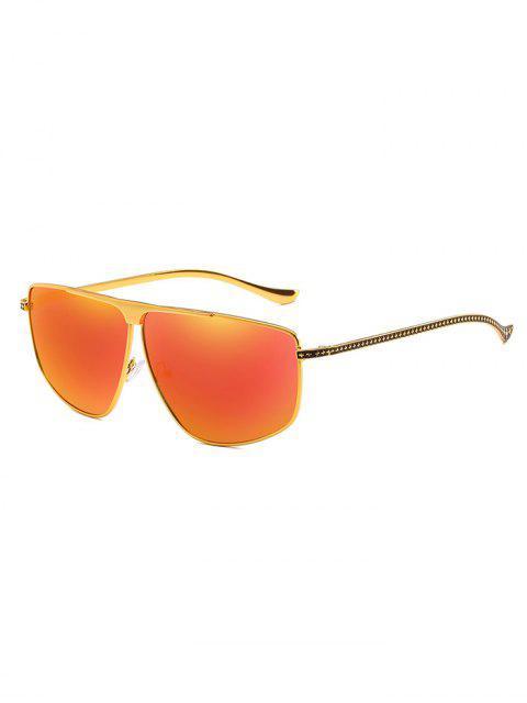 online Unique Metal Frame Pilot Sunglasses - WATERMELON PINK  Mobile