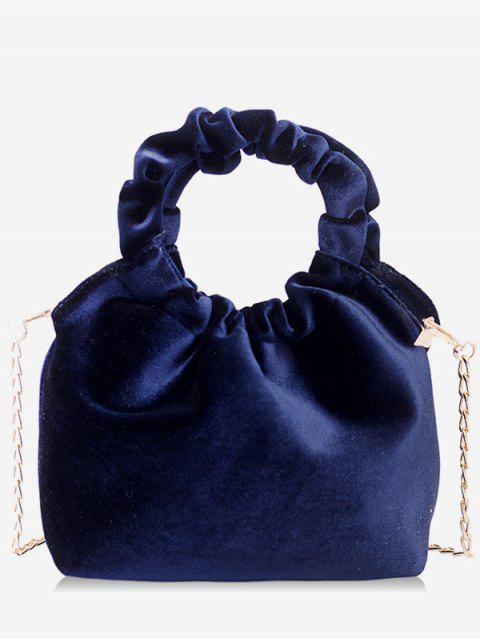 buy Solid Round Shape Handle Handbag - DEEP BLUE  Mobile
