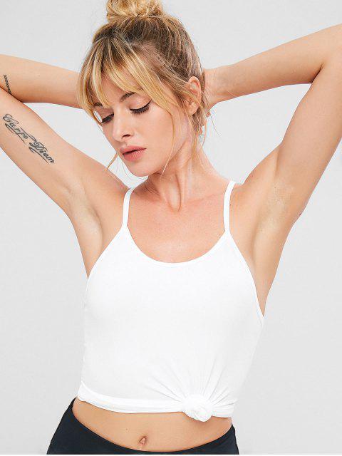 ZAFUL camiseta sin mangas elástica de cami sin costuras - Blanco Talla única Mobile
