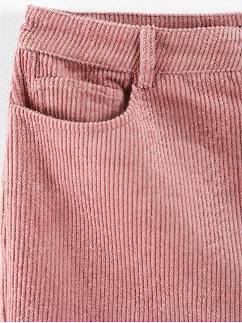 ZAFUL pantalones de bolsillo de pana - Rosa Claro XL Mobile