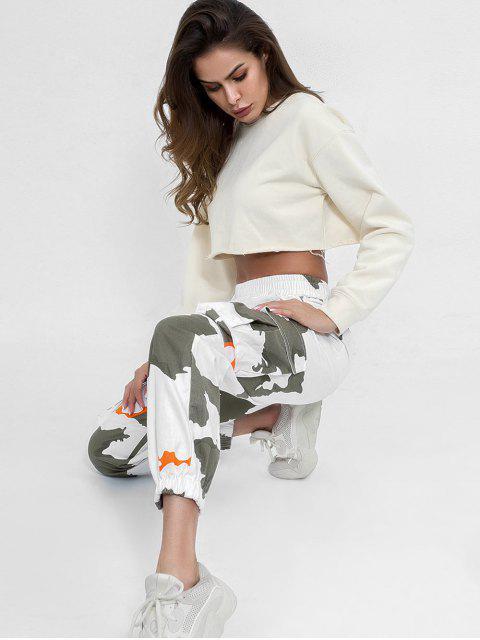Pantalones de chándal estampados a media cintura - Multicolor S Mobile