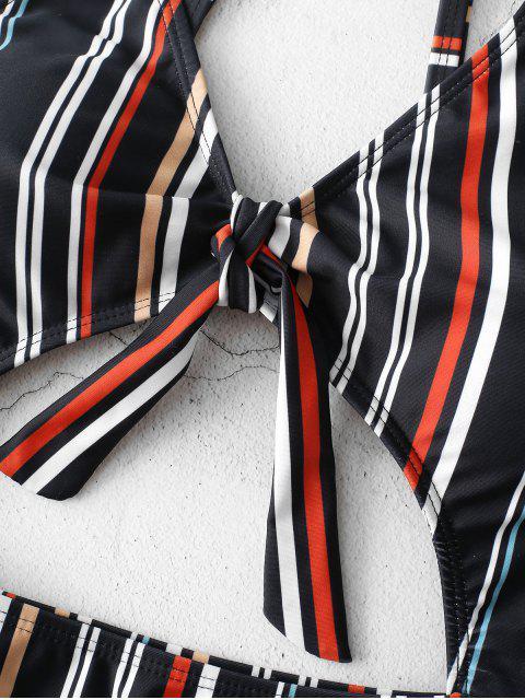 ZAFUL Traje de baño de una pieza con recorte de rayas - Multicolor M Mobile