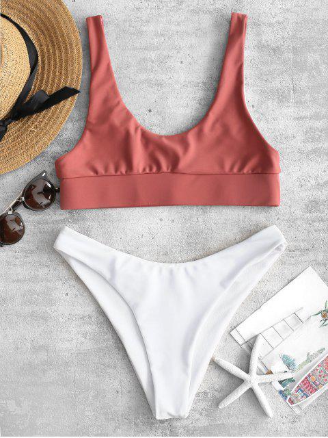 shops ZAFUL Tank Bikini Set - ROSE GOLD L Mobile