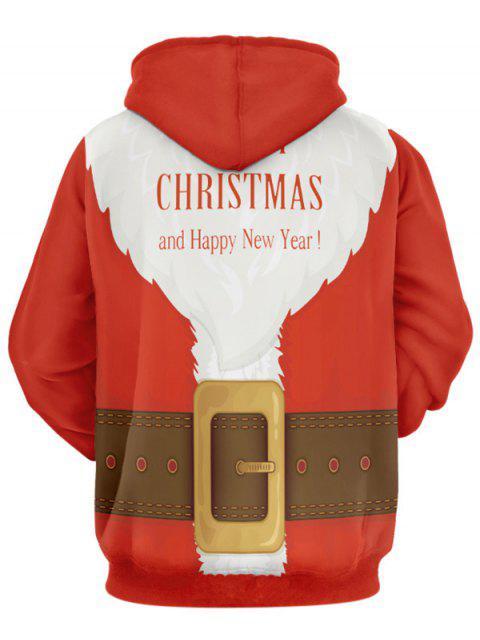 Sudadera con Capucha de Traje de Santa para Navidad - Multicolor 2XL Mobile