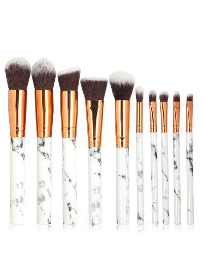Image of 10 Pcs Marble Handles Extra Soft Silky Cosmetic Brush Suit