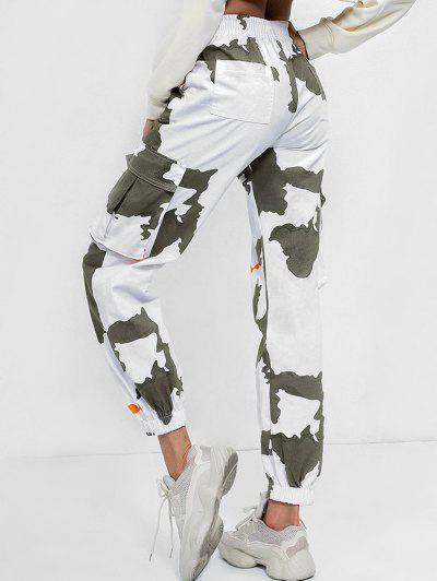 Mid Waist Printed Jogger Pants