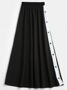شق زر المفاجئة تنورة ماكسي - أسود S