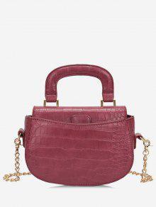 حقيبة كروس صغيرة بمقبض علوي - نبيذ احمر