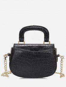 حقيبة كروس صغيرة بمقبض علوي - أسود