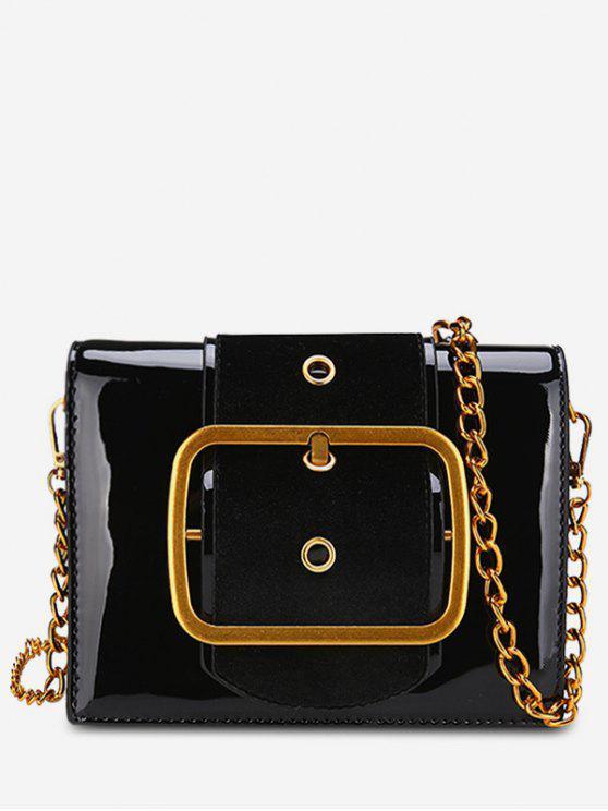 women PU Leather Bucket Crossbody Bag - BLACK