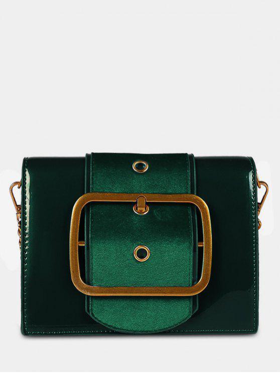 ladies PU Leather Bucket Crossbody Bag - SEA GREEN