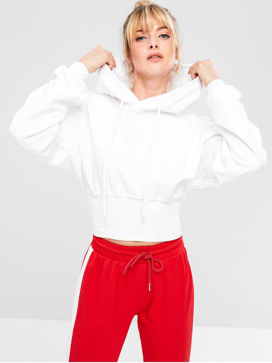 مضلع هيم رياضة رياضة Hoodie - أبيض M