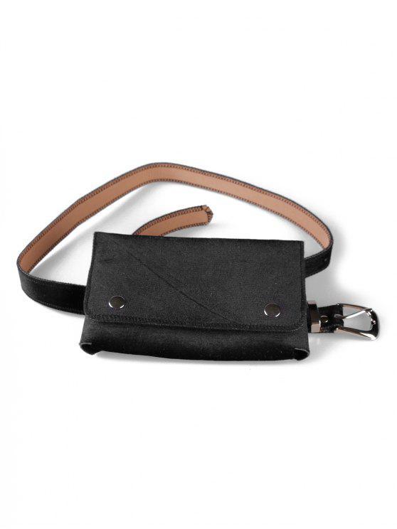 unique Fanny Pack Hip Bum Belt Bag - BLACK