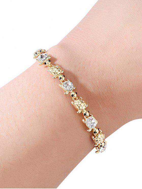 women's Turtle Shape Layered Chain Bracelet - GOLD