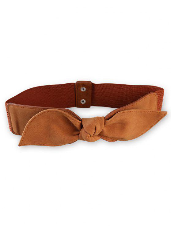 ladies Bowknot Elastic Wide Waist Belt - TIGER ORANGE