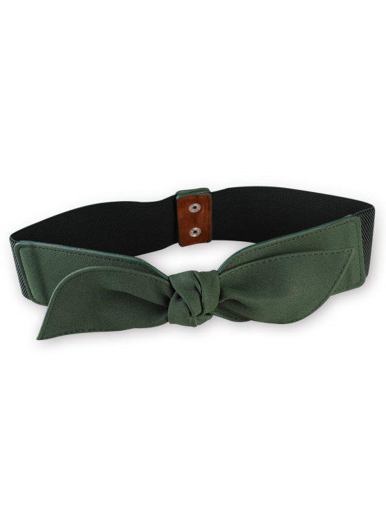 new Bowknot Elastic Wide Waist Belt - GRAYISH TURQUOISE