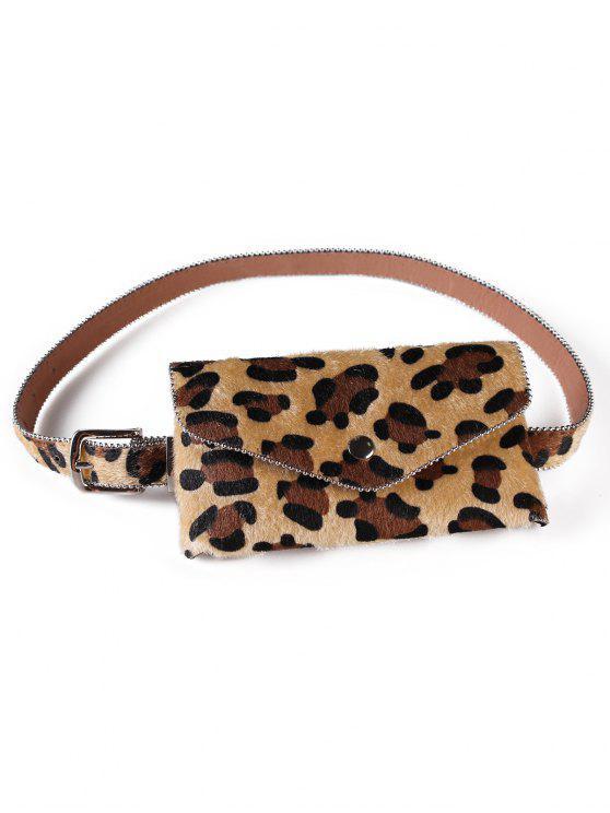 outfit Leopard Printed Fanny Pack Belt Bag - CINNAMON