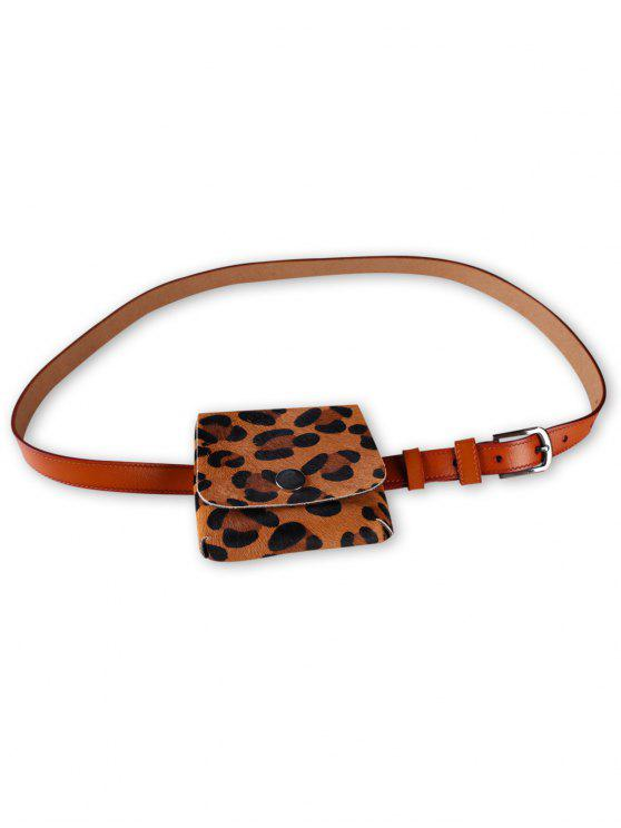 new Leopard Fanny Pack Faux Leather Waist Belt Bag - RUST
