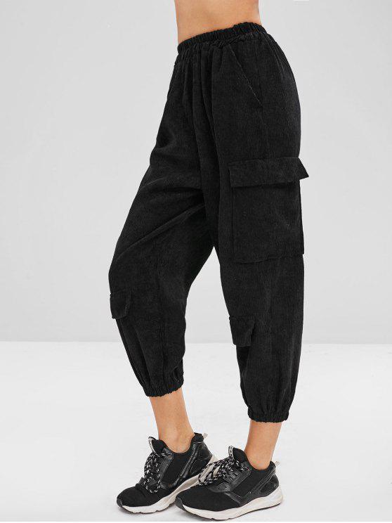 بنطلون كارجو سروال قصير - أسود حجم واحد