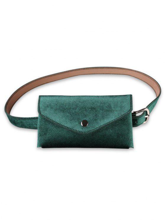 fancy Solid Color Fanny Pack Belt Bag - SEA TURTLE GREEN